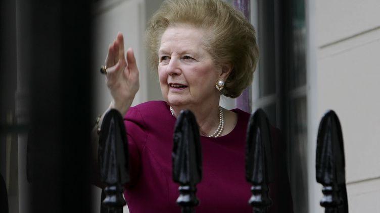 L'ancienne Première ministre britannique, Margaret Thatcher, le 8 mars 2008 à Londres (Royaume-Uni). (LEON NEAL / AFP)
