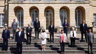 Les membres du G7 Finances lors d'une réunion à Lancaster House, à Londres (Royaume-Uni), le 5 juin 2021. (HENRY NICHOLLS / POOL / AFP)
