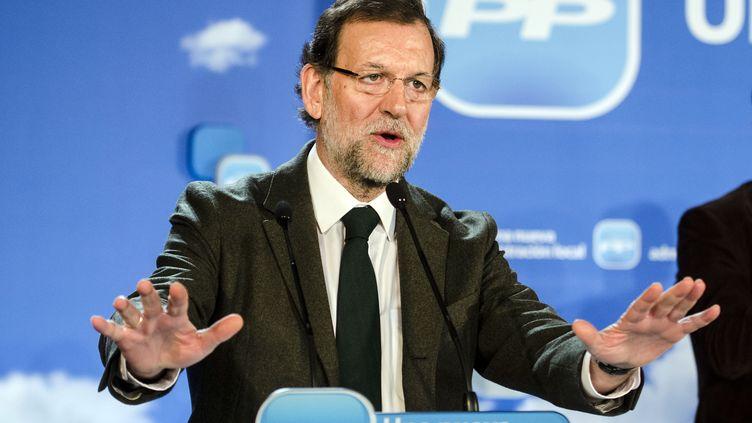 Mariano Rajoy, Premier ministre espagnol et patron du Partido popular, lors d'un meeting à Almeria (Espagne), le 19 janvier 2013. (FRANCISCO BONILLA / REUTERS)