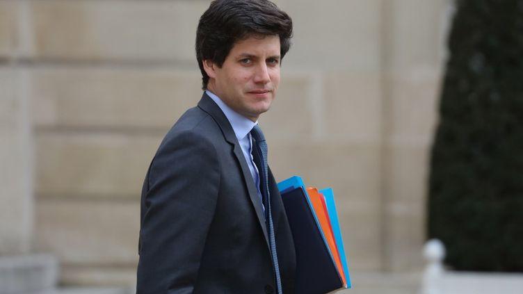 Le ministre du Logement, Julien Denormandie, en charge du dossier des APL, le 13 novembre 2019 à l'Elysée. (LUDOVIC MARIN / AFP)