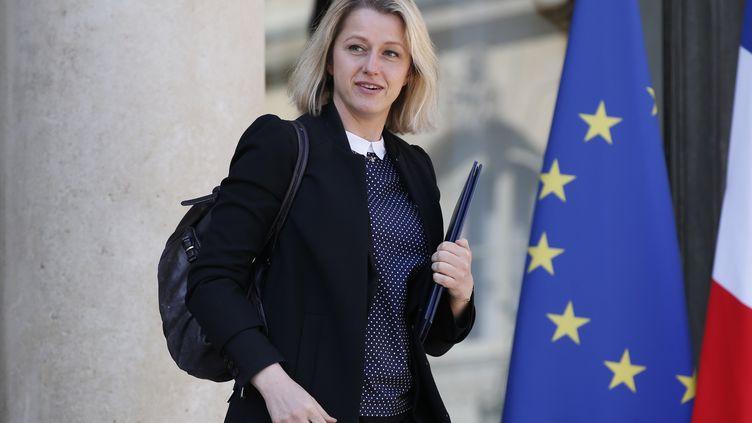 Barbara Pompili, secrétaire d'Etat, devant l'Elysée le 20 avril 2016. (PATRICK KOVARIK / AFP)