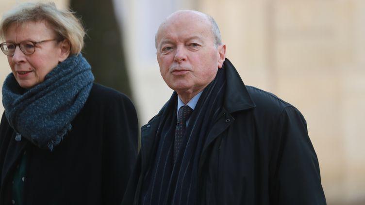 Jacques Toubon, le Défenseurs des droits, dans la cour de l'Élysée, le 11 février 2020. (LUDOVIC MARIN / AFP)