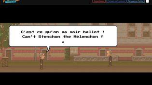 """Capture d'écran du jeu """"Fiscal Kombat"""", développé par des soutiens de Jean-Luc Mélenchon. (FISCALKOMBAT.FR)"""