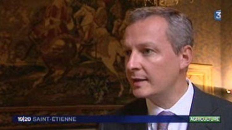 Bruno Le Maire, Ministre de l'alimentation de l'agriculture et de la pêche - 010/09/09 (© France 3)