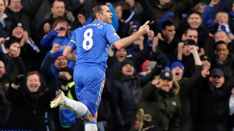 Frank Lampard, le milieu de terrain de Chelsea (OLLY GREENWOOD / AFP)
