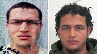 Photos du Tunisien Anis Amri, l'auteur présumé de l'attentat de Berlin. (DPA / AFP)