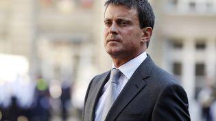 Le ministre de l'Intérieur, Manuel Valls, le 23 août 2013 à Paris. (THOMAS SAMSON / AFP)