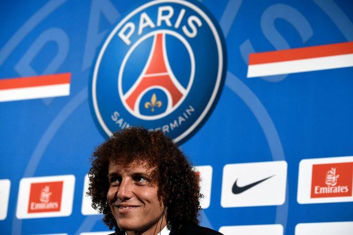 David Luiz lors de son arrivée au PSG