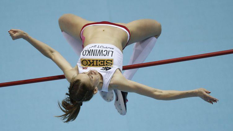 La Polonaise Kamila Licwinko (ADRIAN DENNIS / AFP)