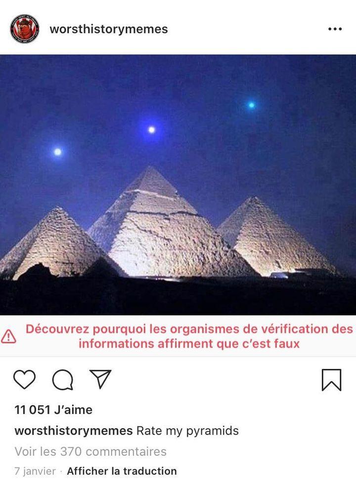 Capture d'écran du compte Worsthistorymemes, sur Instagram, le 22 janvier 2020. (INSTAGRAM)