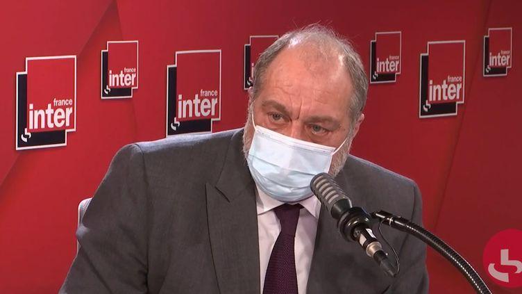 Le ministre de la Justice,Éric Dupond-Moretti sur France Inter le 9 décembre 2020. (FRANCEINTER / RADIOFRANCE)