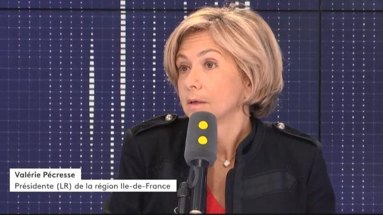 La présidente LR de la région Ile-de-France Valérie Pécresse, le 16 janvier. (RADIO FRANCE)