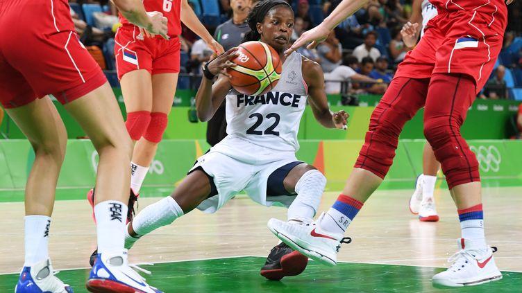 Olivia Epoupa, une des représentants de la jeune garde française  (MARK RALSTON / AFP)