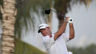 Thomas Levet au golf de Dubaï pour leDubaï Desert Classic, le 31 janvier 2013. (ALI HAIDER / EPA)