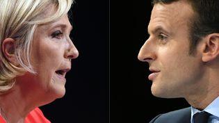 Marine Le Pen et Emmanuel Macron s'affrontent lors du second tour de l'élection présidentielle. (GUILLAUME SOUVANT / AFP)