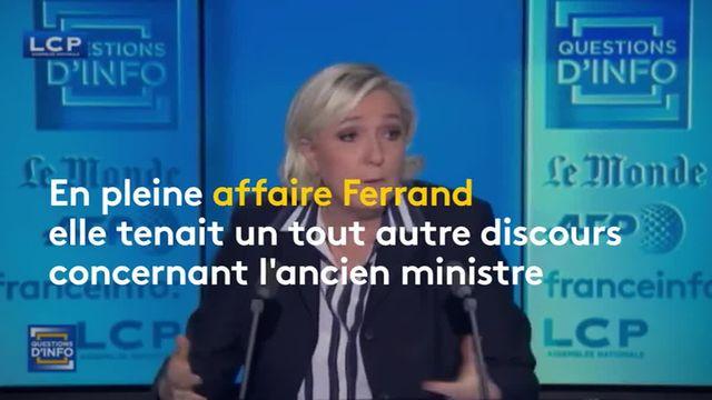 Marine Le Pen prend la défense de la ministre du Travail