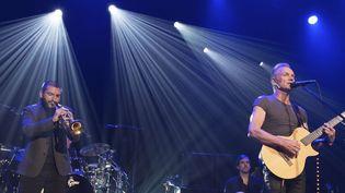 Ibrahim Maalouf et Sting sur la scène du Bataclan  (David Wolff Patrick/AP/SIPA)