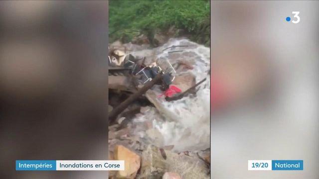 Intempéries : la Corse-du-Sud noyée sous les eaux