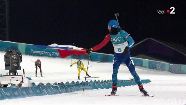 JO 2018 : Martin Fourcade remporte une troisième médaille d'or olympique
