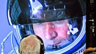 Félix Baumgartner avant son saut stratosphérique, le 14 octobre 2012. (STEFAN AUFSCHNAITER / WWW.REDBULLCONTENTPOOL.COM / AFP)