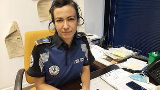 Lacheffe de l'unité de protection des femmes à la police municipale de Madrid,Marta Fernandez Ulloa. (GAELE JOLY / FRANCEINFO)