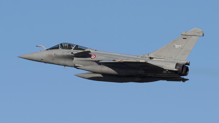 Un avion Rafale de l'armée française durant un exercice aux Etats-Unis, le 15 décembre 2015. (SAUL LOEB / AFP)