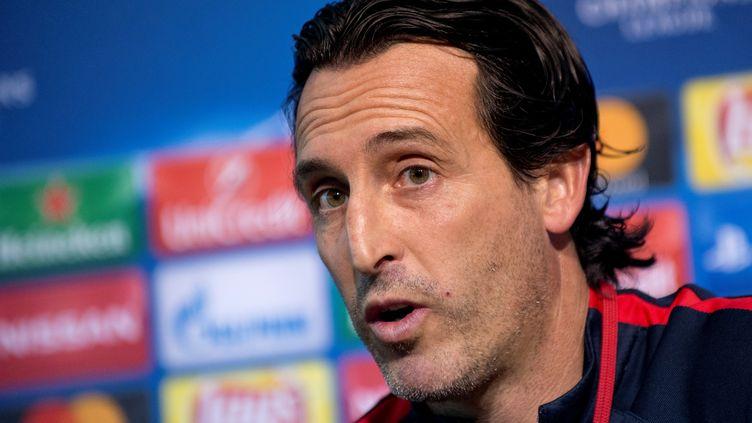 L'entraîneur du PSG Unai Emery (NIKOLAY DOYCHINOV / AFP)