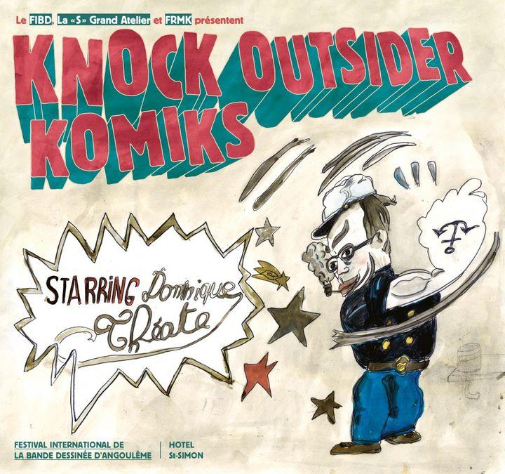 """Affiche de l'exposition """"Knock Outsider Komics"""""""