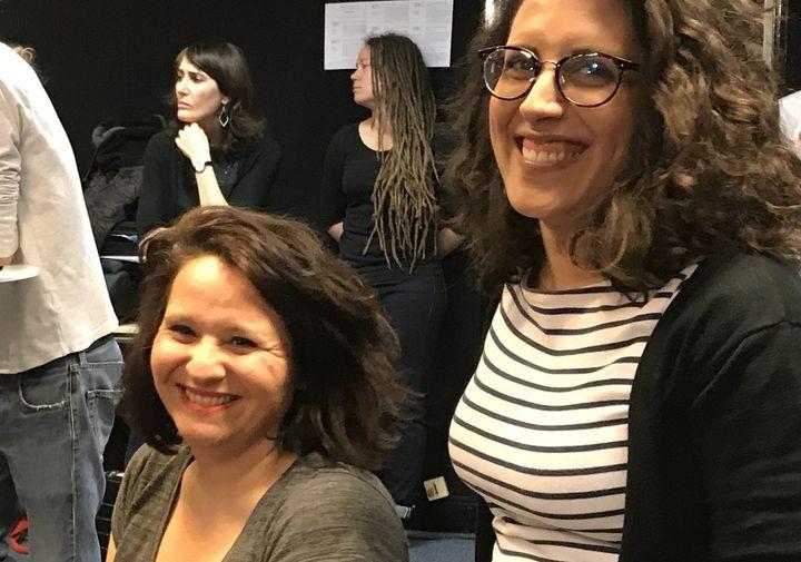 Emmanuelle Rodriguez et Aphrodite Karavokyros, professeures au collège Jean Jaurès (Festival Hors Limites, 8 avril 2019)