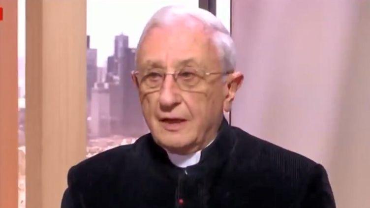 L'abbé de La Morandais sur le plateau de LCI, le 18 mars 2019. (LCI)