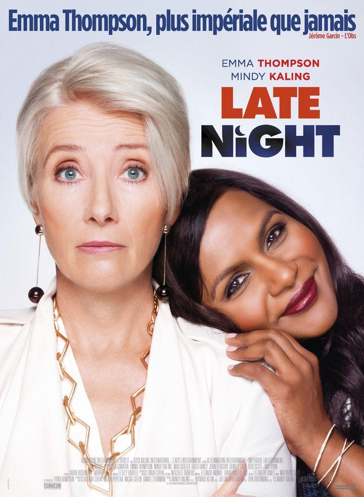 "Affiche de ""Late Night"", deNisha Ganatra, avec Emma Thomson et Mindy Kaling (Late Night)"