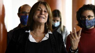 Michèle Rubirola, le 15 octobre 2020, à Marseille. (NICOLAS TUCAT / AFP)