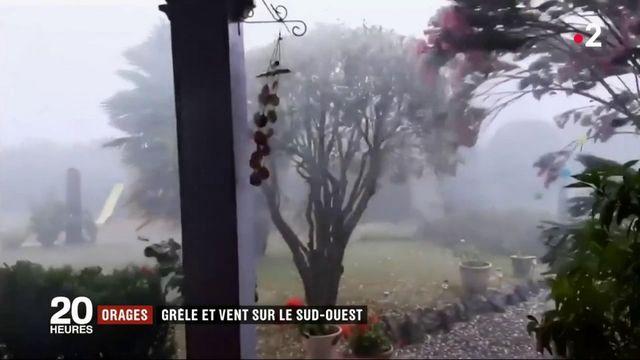 Intempéries : orages, grêle et vent balayent le sud-ouest