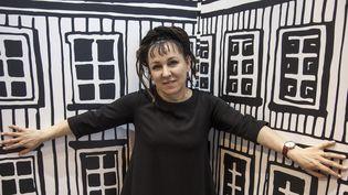 L'écrivaine polonaise Olga Tokarczuk en 2015 à Paris  (MARCELLO MENCARINI / Leemage)