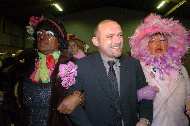 Frédéric Nihous lors d'un meeting pour l'élection présidentielle, le 24 mars 2007 à Teteghem (Nord). (MAXPPP)