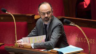 Le Premier ministre Edouard Philippe à l'Assemblée nationale, le 24 mars 2020. (JACQUES WITT / AFP)