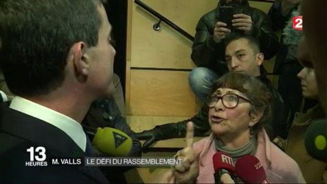 Manuel Valls : en meeting dans le Doubs, il se fait interpeller par une militante