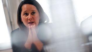 Johanna Rolland, la maire de Nantes, le 27 mars 2019 à Nantes (Loire-Atlantique). (LOIC VENANCE / AFP)