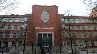 L'hôpital Claude Huriez, à Lille, où unepatiente a été retrouvée morte dans un ascenseur de service, le 25 décembre 2017. (MAXPPP)