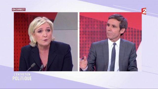 """Entretien tendu sur les """"affaires"""" : Marine Le Pen à l'émission """"L'Entretien politique"""" de France 2"""