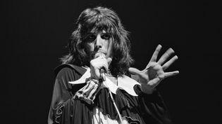 Freddie Mercury de Queen sur scène en Grande-Bretagne en novembre 1973.  (Michael Putland / Getty Images)