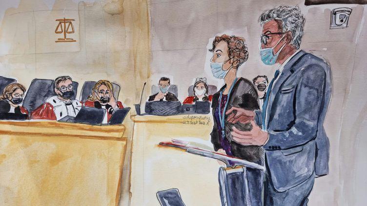 Le directeur de l'Institut médico-légal de Paris, Bertrand Ludes, devant la cour d'assises spéciale de Paris au procès des attentats du 13-Novembre, le 23 septembre 2021. (ELISABETH DE POURQUERY / FRANCEINFO)