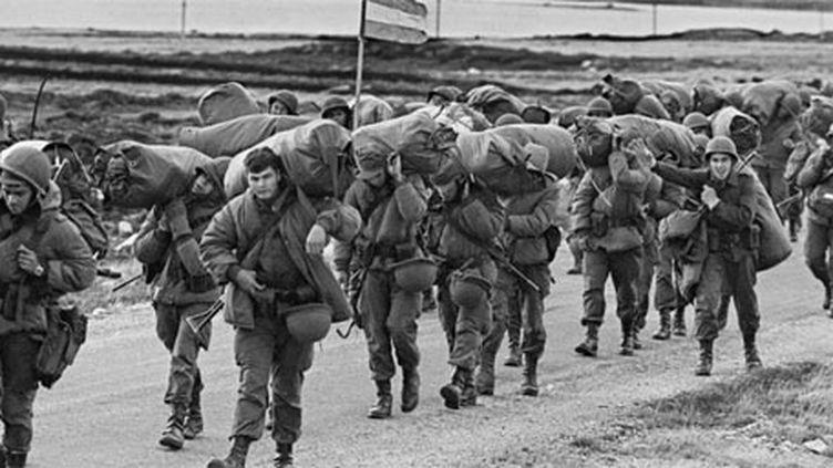 En 1982, la guerre de Malouines s'acheva sur un échec cuisant pour l'Argentine face au Royaume-Uni. (AFP/DANIEL GARCIA)