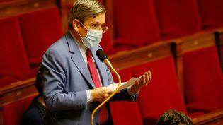 Charles de Courson, le 23 mars 2021, à l'Assemblée nationale. (THOMAS SAMSON / AFP)