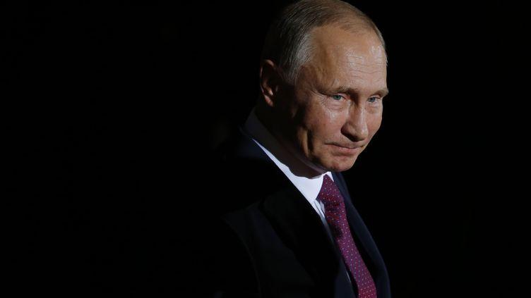 Le président russe Vladimir Poutine à Berlin, en Allemagne, le 19 octobre 2016. (ODD ANDERSEN / AFP)