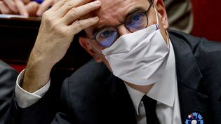 Le Premier ministre Jean Castex à l'Assemblée nationale le 10 novembre 2020 (THOMAS COEX / AFP)
