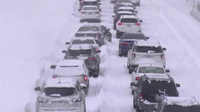 Le blizzard aux USA