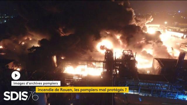 Incendie d'un site Seveso à Rouen : les pompiers mis en danger ?