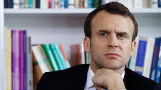 Le président de la République, Emmanuel Macron, lors de la visite du CHU de Rouen (Seine-Maritime), le jeudi 5 avril 2018. (CHRISTOPHE ENA / POOL)