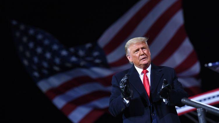Le président américain DonaldTrumpà Montoursville, Pennsylvanie, le 31 octobre 2020 (MANDEL NGAN / AFP)